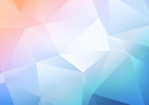 Abstracte achtergrond met een pastel laag poly ontwerp
