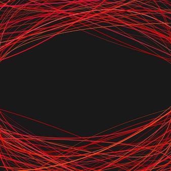 Abstracte achtergrond met gebogen strepen aan de bovenkant en de onderkant - vector ontwerp