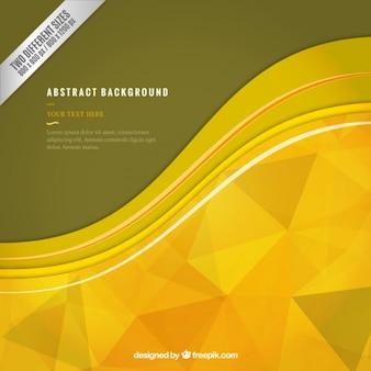 Abstracte achtergrond met gele polygonen