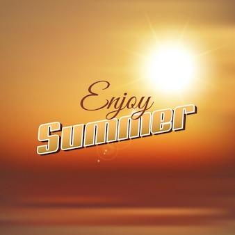 Abstracte achtergrond met genieten van de zomer typografie