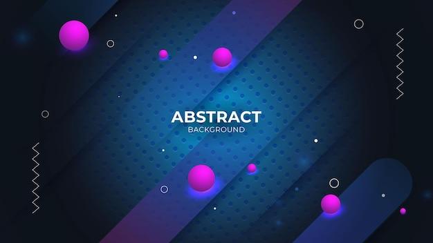 Abstracte achtergrond met geometrisch vormenontwerp