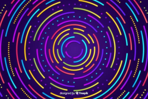 Abstracte achtergrond met geometrische neonvormen