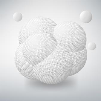 Abstracte achtergrond met geometrische ontwerpelementen. creatief concept vector van cellen hud, bacteriën