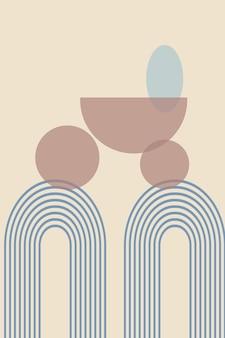 Abstracte achtergrond met geometrische vormen en lijnen