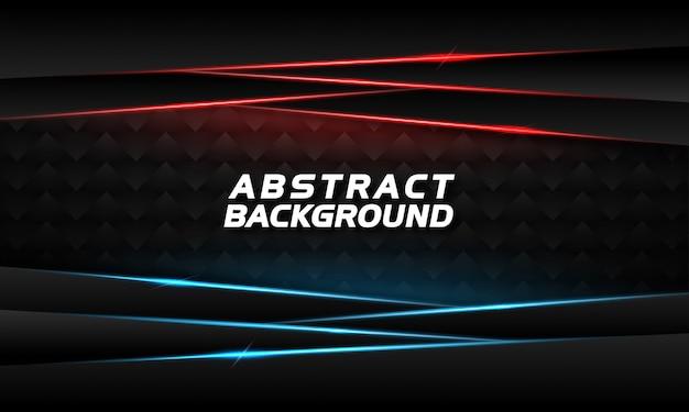 Abstracte achtergrond met gloeiende blauwe en rode lijnen