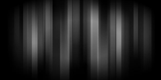 Abstracte achtergrond met gloeiende verticale strepen in zwarte en grijze kleuren