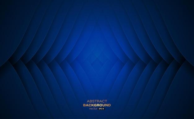 Abstracte achtergrond met golvend marineblauw gestreept oppervlak vectorillustratie