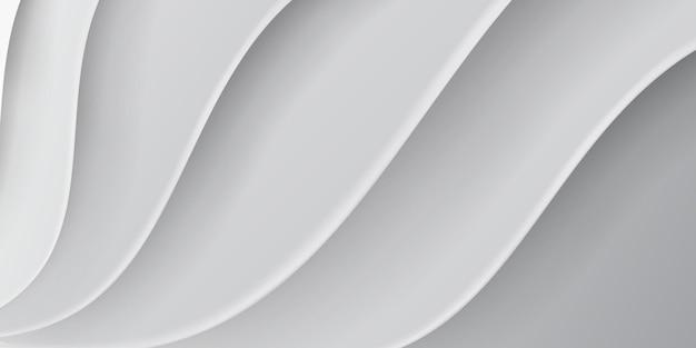 Abstracte achtergrond met golvend oppervlak in witte en grijze kleuren