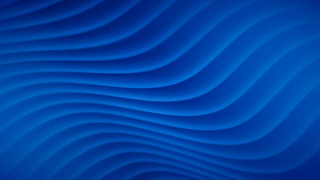 Abstracte achtergrond met golvende lijnen in blauwe kleuren