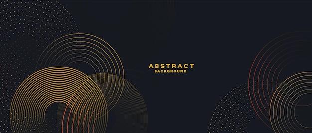 Abstracte achtergrond met gouden cirkellijnen