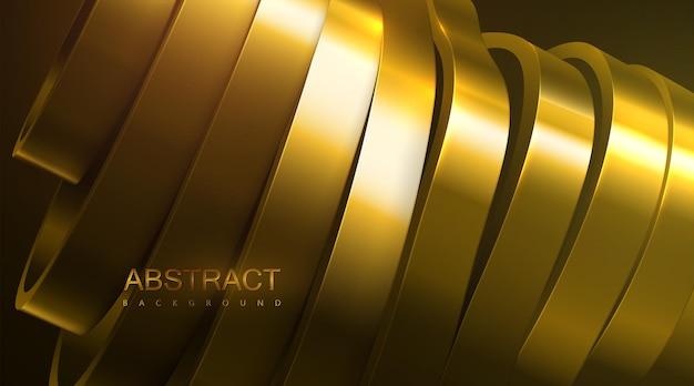 Abstracte achtergrond met gouden gesneden oppervlak