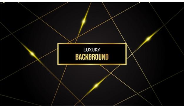 Abstracte achtergrond met gouden lijnen op zwarte achtergrond