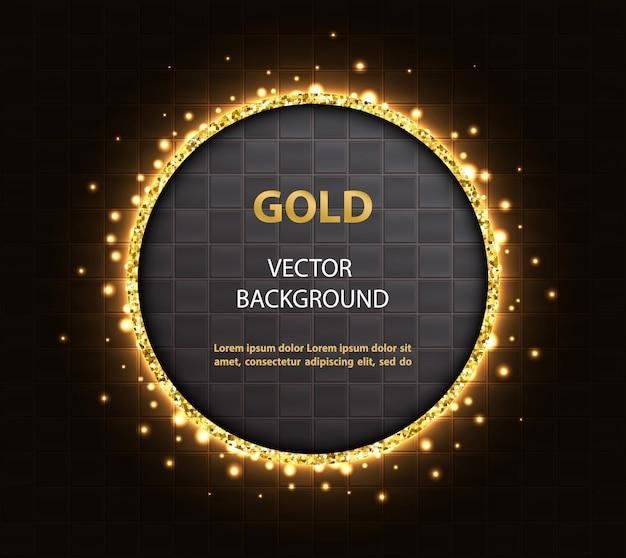 Abstracte achtergrond met gouden rond frame