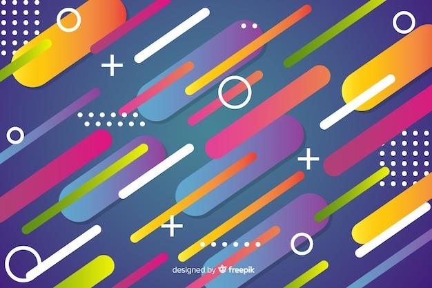 Abstracte achtergrond met gradiënt dynamische vormen