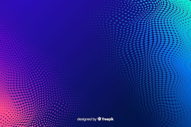 Abstracte achtergrond met gradiënt halftoon effect