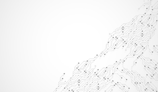 Abstracte achtergrond met hightech technologie textuur printplaat textuur abstracte printplaat ba...