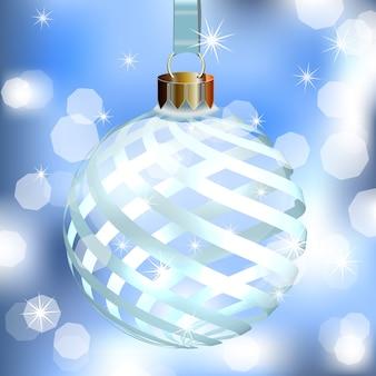 Abstracte achtergrond met kerstboom bal.