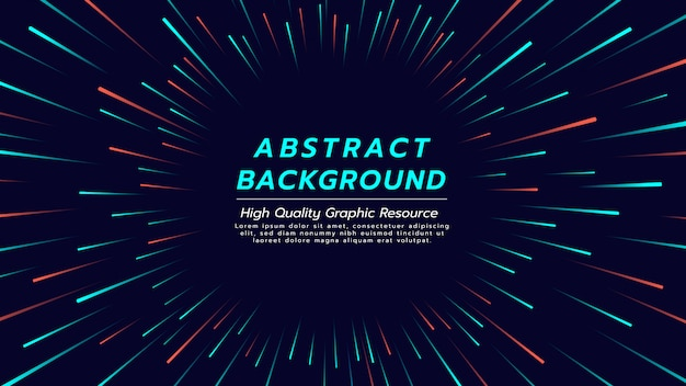 Abstracte achtergrond met kleur lijn in radiale vorm.