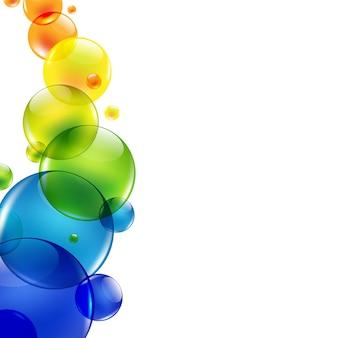 Abstracte achtergrond met kleurenballen,