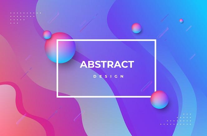 Abstracte achtergrond met kleurovergang dynamische vormen