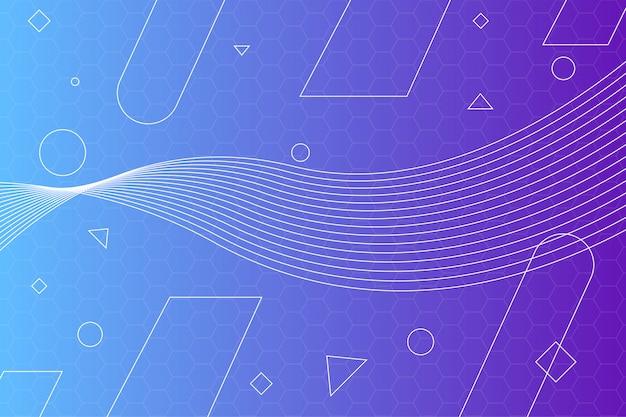 Abstracte achtergrond met kleurovergang geometrische lijnen