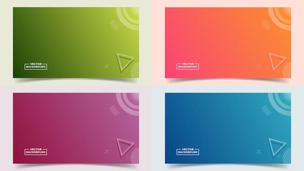 Abstracte achtergrond met kleurovergang instellen volledige kleuren en lijnen in een mooie combinatie