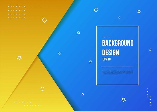 Abstracte achtergrond met kleurovergang met moderne geometrische dynamische bewegingsstijl geschikt voor behang, banner, achtergrond, kaart, boekillustratie, bestemmingspagina