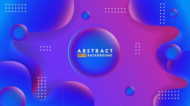 Abstracte achtergrond met kleurovergang met vloeiende vormen