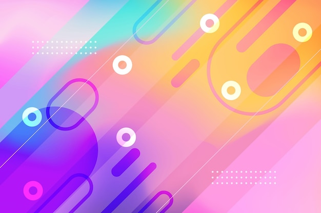 Abstracte achtergrond met kleurovergang met vormen