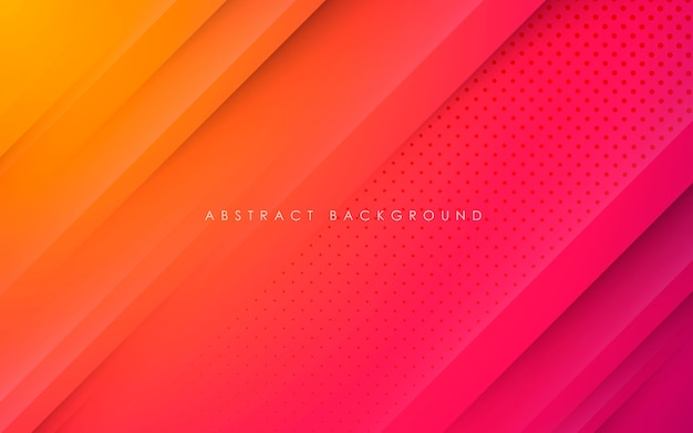Abstracte achtergrond met kleurovergang papercut vorm