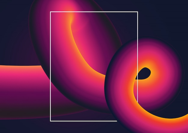 Abstracte achtergrond met kleurovergang werveling
