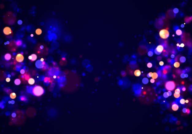Abstracte achtergrond met kleurrijk bokeh-effect.