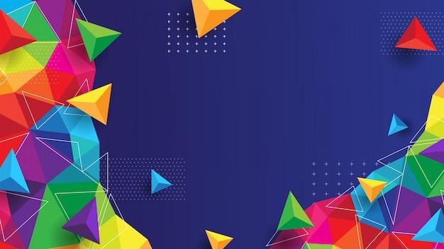 Abstracte achtergrond met kleurrijk en modern concept