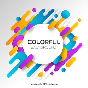 Abstracte achtergrond met kleurrijke afgeronde vormen