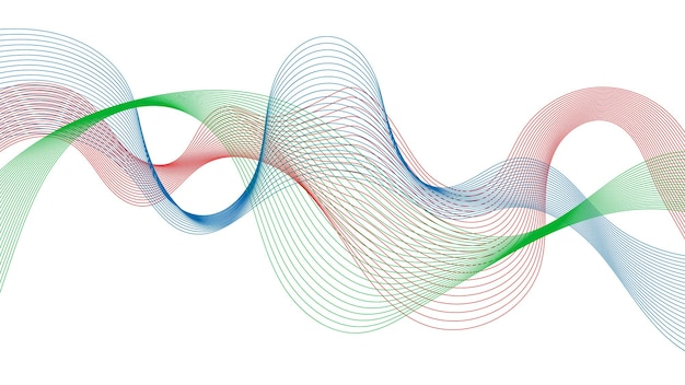Abstracte achtergrond met kleurrijke golfverlooplijnen op witte achtergrond. moderne technische achtergrond, golfontwerp. vector illustratie