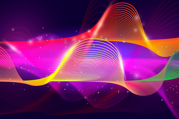 Abstracte achtergrond met kleurrijke golvende vormen
