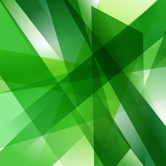Abstracte achtergrond met kleurrijke groene overlappende transparante lagen