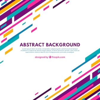 Abstracte achtergrond met kleurrijke lijnen