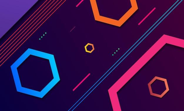 Abstracte achtergrond met kleurrijke vorm en diepe schaduw