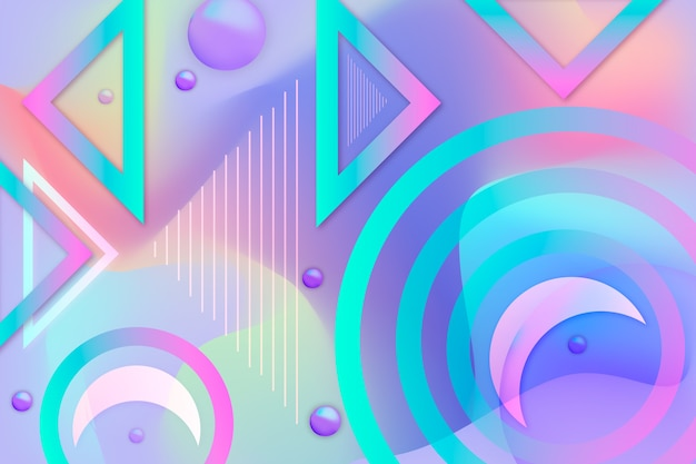 Abstracte achtergrond met kleurrijke vormen