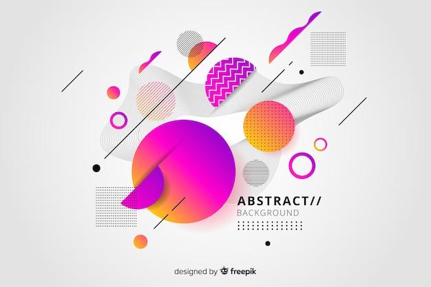 Abstracte achtergrond met kleurverloop effect