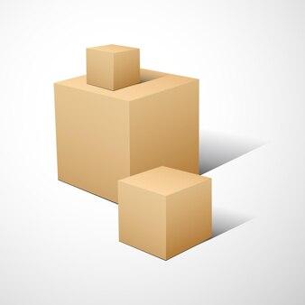 Abstracte achtergrond met kubusillustratie.