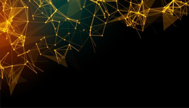 Abstracte achtergrond met laag poly gouden lijnen