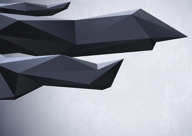 Abstracte achtergrond met lage polykristallen