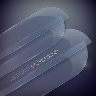 Abstracte achtergrond met lege glasvormen