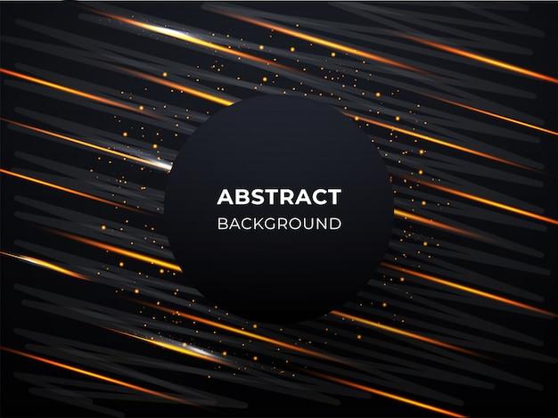 Abstracte achtergrond met lichte lijnen en gouden deeltjes.