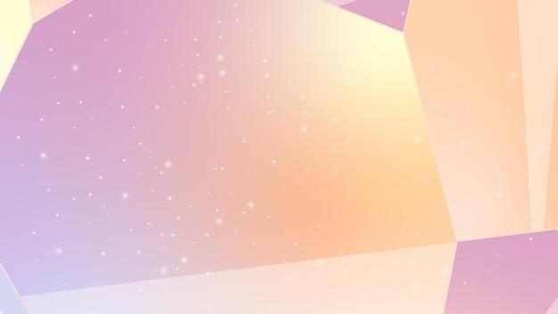 Abstracte achtergrond met lijnen nachtelijke hemel kosmische abstractie illustratie met sterren en kristallen