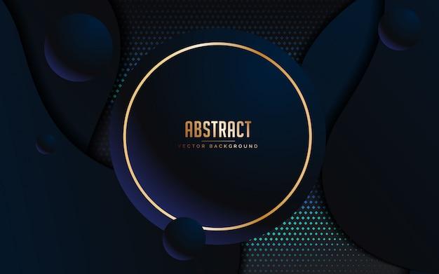 Abstracte achtergrond met luxe zwarte en blauwe kleur
