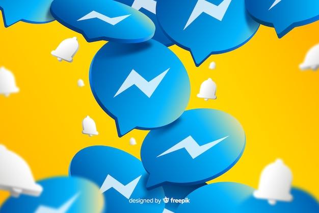 Abstracte achtergrond met messenger logo's