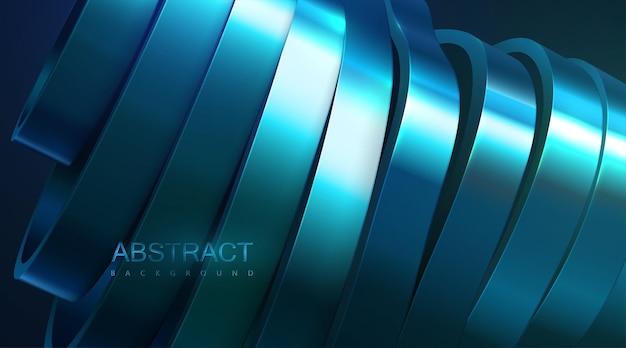 Abstracte achtergrond met metallic blauw gesneden oppervlak